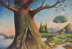 Tree of Life 2016 by Vladimir Kush - Giclee on Canavas