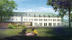 Nursing Home in a historical area of Białaczów Palace in Opoczno County, Poland - design by Archimed Architecture, rendering