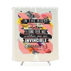 Summer Quotes Shower Curtain