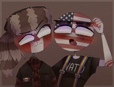 Brothers In Arms, Hetalia, America And Canada, Country Art, My Hero, Fan Art, History, Drawings, Anime