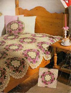 Crochet: Floral bedspreads