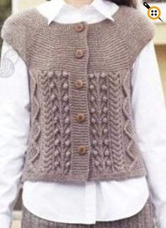 Easy Knitting Tutorial For Beginners - Diy Crafts Knitting Blogs, Easy Knitting, Knitting Projects, Crochet Blouse, Knit Crochet, Punto Fair Isle, Knitting Magazine, Knit Vest, Knitting Patterns