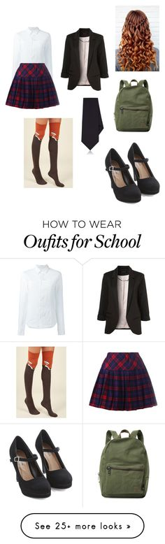"""""""Alternate School Girl"""" by beckybedford on Polyvore featuring A.F. Vandevorst, Kiton and Herschel Supply Co."""