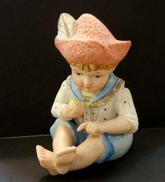 Vintage Bisque Porcelain Piano Baby Boy   eBay