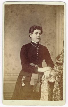 Standing Young Lady IN Bethlehem Pennsylvania BY P Leidigh Gross 1870'S CDV | eBay