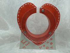 Red Heart Wooden Bank  Free personalization by SPIHobbies on Etsy