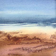Foreshore I - Watercolour and ink by Liz James