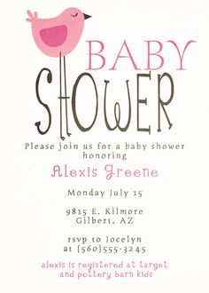 Compliment your tweet baby girl baby shower with these adorable bird baby shower invitations digital printable any colors 1300 via filmwisefo
