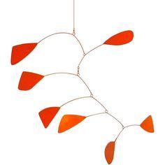 alexander calder inspired mobile: red orange   #stylesquared