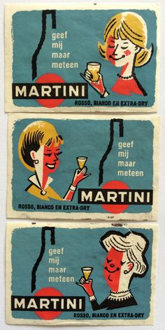 Martini, Vintage Dutch #MatchboxLabels To order your business' own branded #matchboxes or #matchbooks GoTo: www.GetMatches.com or CALL 800.605.7331 Today!