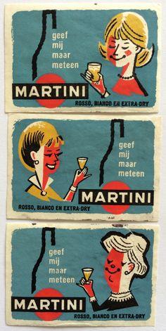 Martini, Vintage Dutch Matchboxes