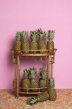 side-table ananas.