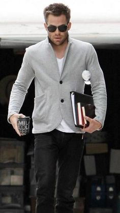 Chris Pine with Persol Men's Sunglasses