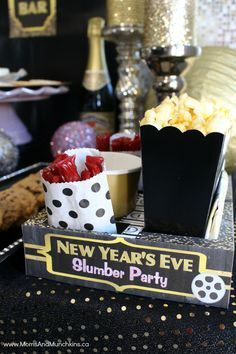 New Year's Eve slumber party for kids | Moms and Munchkins --- This would be a fun idea, even if they don't stay up and party til midnight.