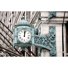 Marshall Field's Clock on State Street in Chicago - Peel and Stick Wall Decal by Wallmonkeys