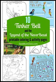 NeverBeast Coloring Pages My Review See Mom Click Tinkerbell Neverbeast CakePrincess ColoringDisney