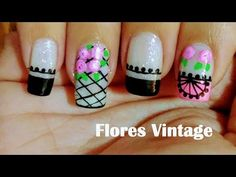 DECORACIÓN DE UÑAS MARIPOSAS Y FRANCÉS♥ - FRENCH NAIL ART - BUTTERFLY NAIL ART - NLC - YouTube Manicure Y Pedicure, I Cool, Nail Decorations, Cool Nail Designs, My Nails, Nail Art, Shapes, Beauty, Youtube