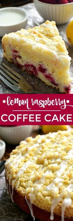 This Lemon Raspberry Coffee Cake is the perfect cake for spring! Packed with the delicious flavors of lemon and raspberries and topped with a sweet, buttery streusel, this coffee cake is the ideal addition to your Easter menu! Shared by Where YoUth Rise Lemon Recipes, Baking Recipes, Cake Recipes, Dessert Recipes, Just Desserts, Delicious Desserts, Yummy Food, Raspberry Coffee Cakes, Coffee Cupcakes