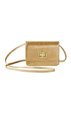 Customization is key. The Ibiza Interchangeable Crossbody bag will put all your bags to shame. This stylish gold crossbody is the perfect size for your lip gloss and cell, and you can change its look with interchangable flaps. We're OBSESSED.