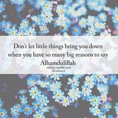 Don't let little things bring you down .....