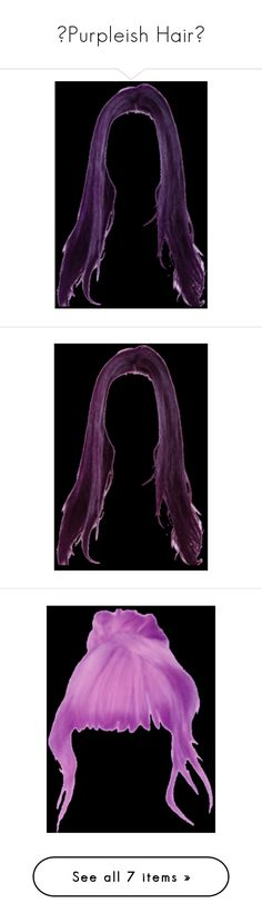 """💙Purpleish Hair💙"" by celesteneo ❤ liked on Polyvore featuring hair, doll hair, doll parts, dolls, doll parts - hair, wigs, effects and filler"