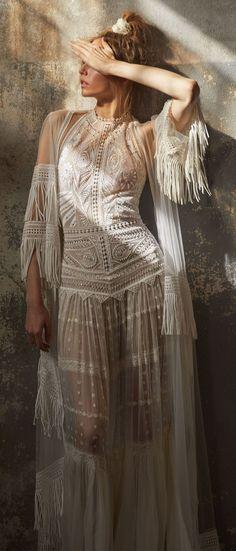 Boho wedding dress : Lior Charchy Fall 2018 Wedding #weddingdress #weddinggown #bridalgown #weddinggowns