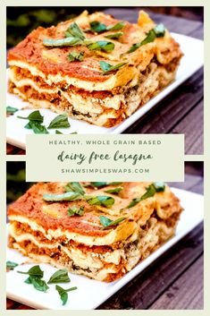 Dairy Free Lasagna- A healthy, lactose free Italian recipe that everyone can enjoy! Filled with fiber and whole grains, this is a healthy recipe that can also be made quickly! Can be made gluten free. Lactose Free Lasagna Recipe, Dairy Free Lasagna, Dairy Free Diet, Dairy Free Recipes, Gluten Free, Casserole Recipes, Lasagna Recipes, Toddler Friendly Meals, Healthy Italian Recipes