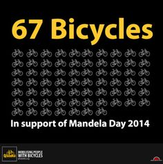 It only takes R67.00 from 2000 people for us to put 67 school kids on bicycles. Are you in?