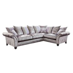 Here's our Vegas Glitz range. High glamour and Hollywood Glitz. The Las Vegas range adds a shimmering piece of luxury to any home. Turned feet and sweeping arms add detail and style with pillows nesting in the centre. Fabric Sofa, Sofas, Las Vegas, Centre, Arms, Hollywood, Range, Glamour, Couch
