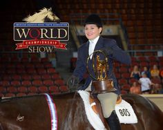 Katerina Mendel and Willys On The Green. AQHYA World Campions! Photo KC Montgomery. We love this horse and rider, they come from a wonderful family and training barn with Rosie Sheffer in Grass Lake Michigan. This pair has worked super hard and Katerina is a delightful young woman. Congrats from ShoMe Horse Shows!