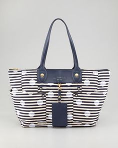 Preppy Nylon East-West Printed Tote Bag by MARC by Marc Jacobs at Bergdorf Goodman... cute gender-neutral baby bag.