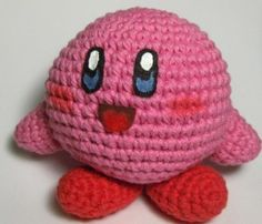 Patrón gratis de amigurumi. Un Kirby!!!