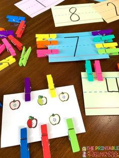 Easy DIY activities that you can make to help your students master number sense! So many good ideas here!!!