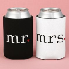 Wedding Koozies- for him and her (with michelob ultra of course) ;)