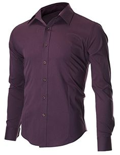 FLATSEVEN Men's Slim Fit Casual Button Down Dress Shirt Long Sleeve (SH600) Purple, M FLATSEVEN http://www.amazon.com/dp/B00OWXYU8O/ref=cm_sw_r_pi_dp_469Yub0RH8KZX #FLATSEVEN #Men #SlimFit #Casual #Shirts #Denim #Clothes #Mensclothing