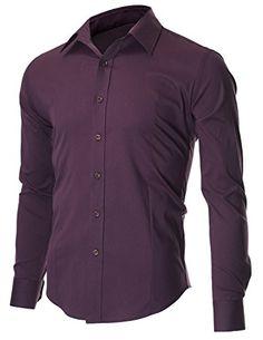 FLATSEVEN Men's Slim Fit Casual Button Down Dress Shirt Long Sleeve (SH600) Purple, M FLATSEVEN http://www.amazon.com/dp/B00OWXYU8O/ref=cm_sw_r_pi_dp_469Yub0RH8KZX #FLATSEVEN #Men #SlimFit #Casual #Shirts #Denim #Clothes #Mensclothing