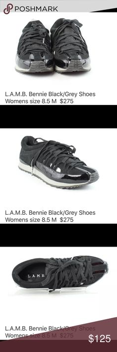 Gwen Stefani L.A.M.B. shoes black -!!! 8-1/2 L.A.M.B. Black tie shoes - worn 3 times - size 8-1/2 - cool cutout - without box - $275 Retail L.A.M.B. Shoes Sneakers