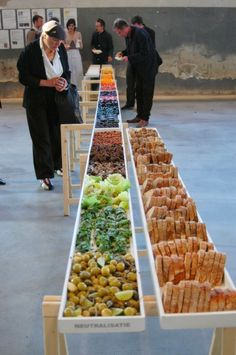 catering presentation. create your own. organized by color