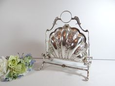 Stunning Silverplate Folding Biscuit Bun Warmer - Elegant Serving Piece for your Dining Table or Buffet Table - Victorian Style GIft for Her by SecondWindShop on Etsy