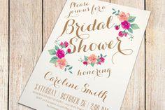 Printable Bridal Shower Invitation  Vintage Floral by plpapers, $16.00