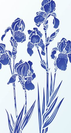Iris Stencils 1 and 2 Iris Stencils 1 and Large Iris Theme Pack Beautiful Iris flower stencils. 2 x 2 sheet designer stencils Iris Stencils 1 & 2 – beautiful, elegant designer Iris Stencils based. Iris Painting, Fabric Painting, Art Floral, Botanical Art, Botanical Illustration, Iris Drawing, Iris Art, Art Aquarelle, Iris Flowers