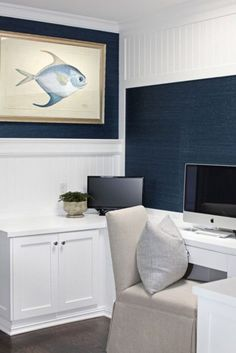 Beach And Coastal Decor Is Actual Not Only For Beach Houses But Also For  Those Who Love To Spend Time On The Beach. I Think A Coastal Home Office.