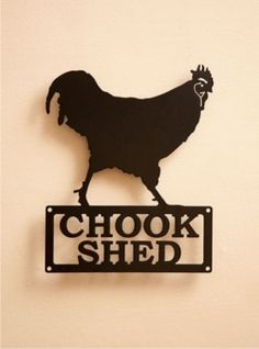 Metalscape - Small Chook Shed Garden Sign
