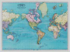 Vintage world map printable map print instant digital download mapas clsicos murales de pared maps gumiabroncs Image collections