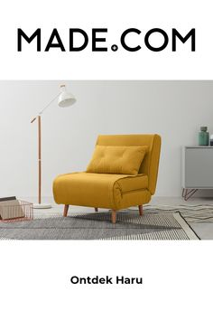 Sleeping Couch, Single Couch, Sofa Cama Individual, Yellow Sofa, Sofa Bed, Furniture, Home Decor, Butter, Baby