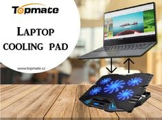 TopMate gaming laptop cooling pad reduces the risk of overheating by artificially increasing the airflow to your laptop internal components. It has four outer fans and a large center strong wind fan. Wind Fan, Laptop Cooling Pad, Strong Wind, Gaming, Fans, Videogames, Game