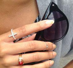 Cat eye sunglasses and fun rings. code name: drédin: The Long Version
