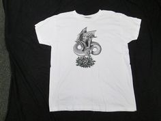 """M.C. Escher T-shirt Dragon """"Old Stock - Never Worn! Women's Cut Size Large"""