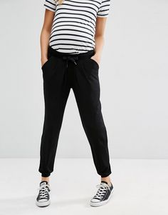 928e7983c11 Image 4 of ASOS Maternity Jersey Peg Trouser With Draw Cord Waist Asos  Maternity