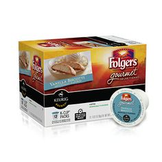 Package of Folgers Vanilla Biscotti K-Cups